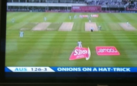 Cricket - Onions on a hat-trick