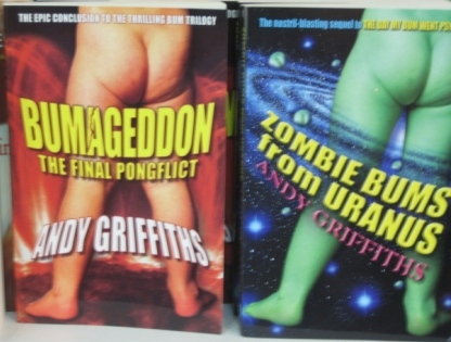 'Bumageddon, The Final Pongflict' and 'Zombie Bums from Uranus'